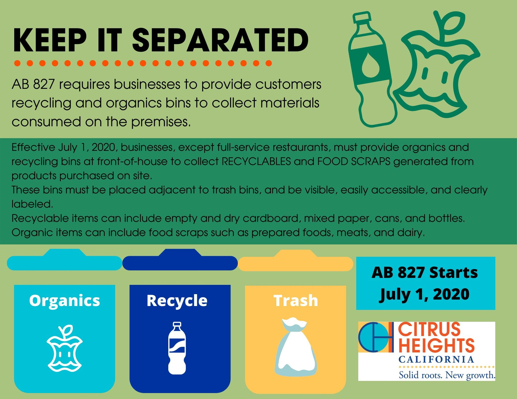 AB 827 business recycling