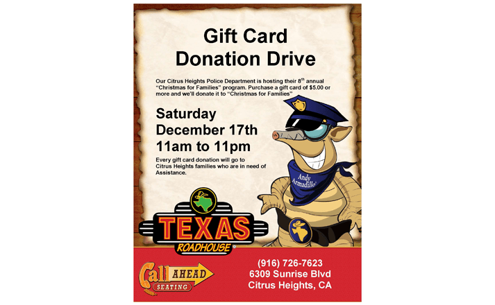 Gift Card Donation CHPD Flyer