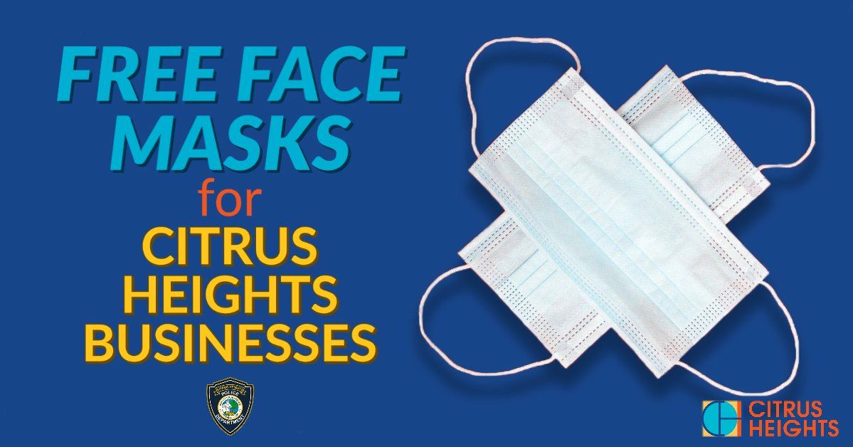 Free face masks available for Citrus Heights businesses