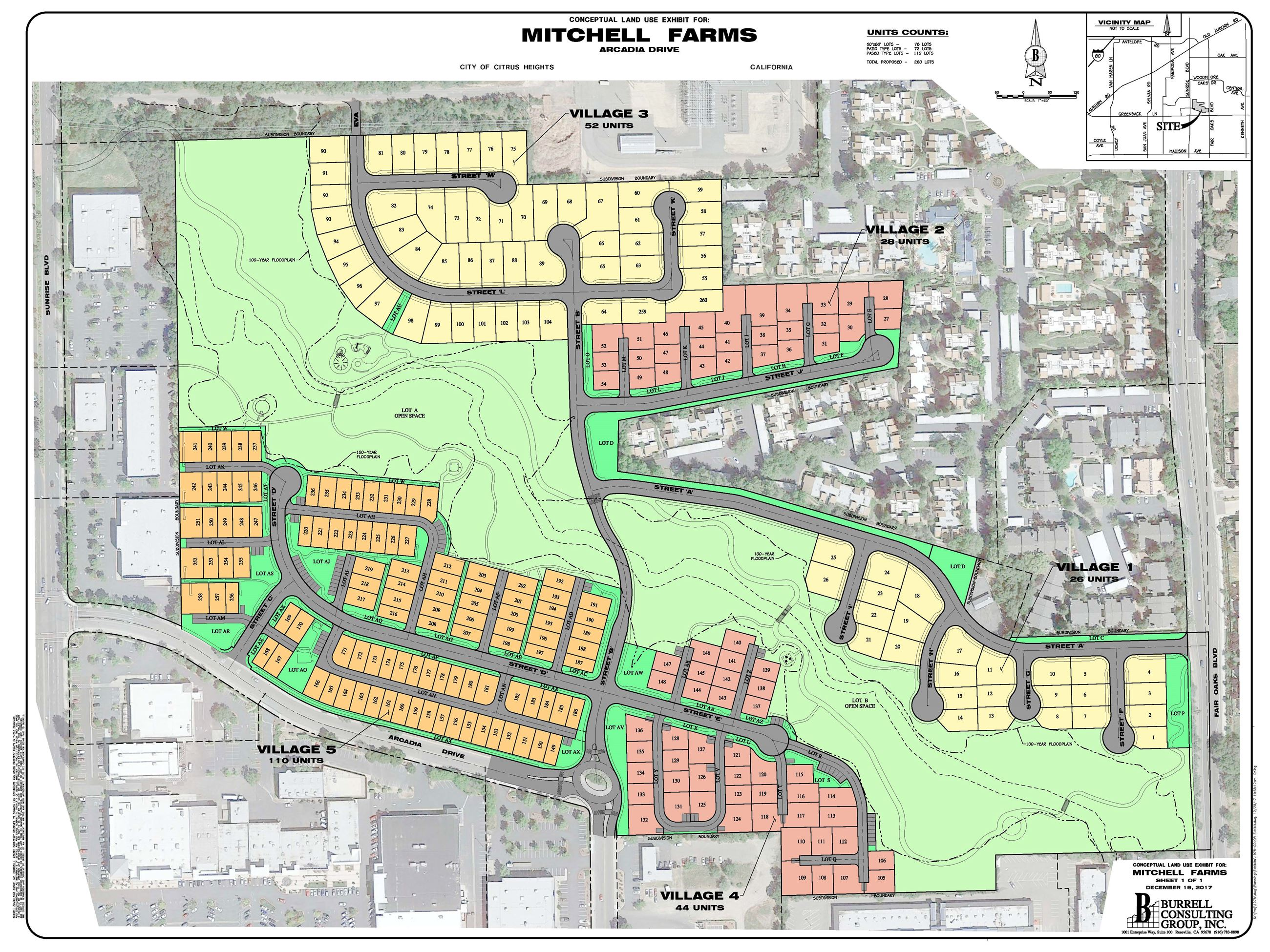 Mitchell Farms Color Site Plan Opens in new window