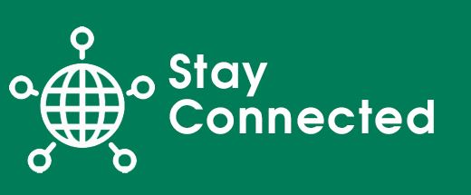 Green Stay Connected Button